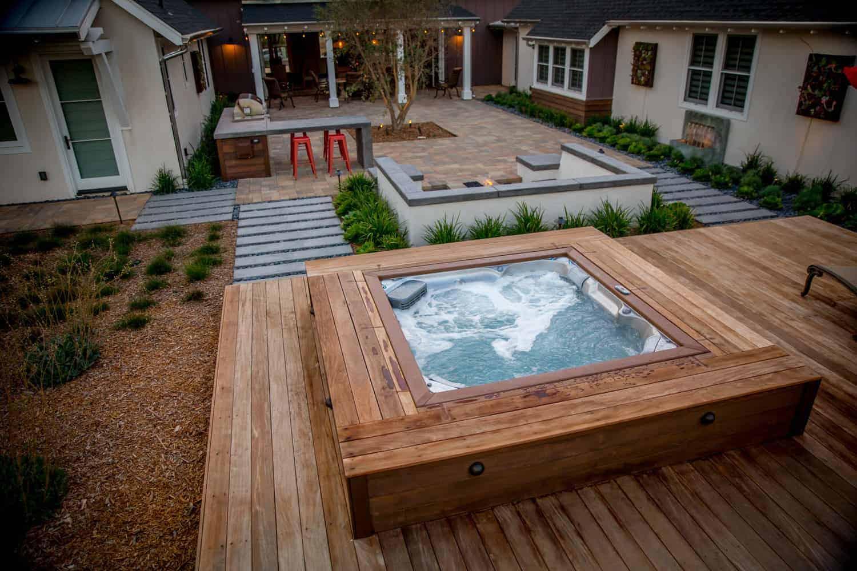 J-LXL Hot Tub Square Deck FlushMount